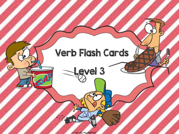 Verbs Flash cards Level 3
