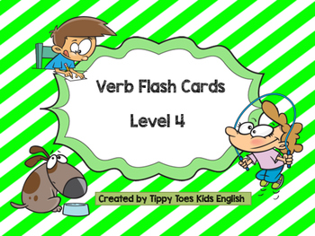 Verbs Flash cards Level 4
