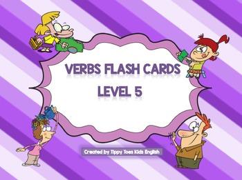 Verbs Flash cards Level 5