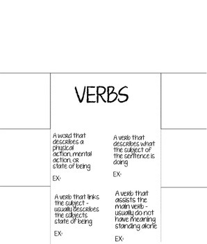 Verbs Foldable!