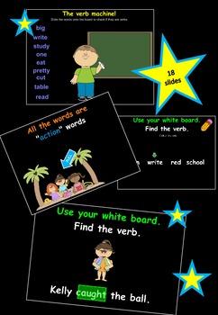 Verbs Fun in the Sun Mimio lesson