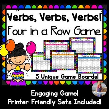 Verbs Game: Four in a Row