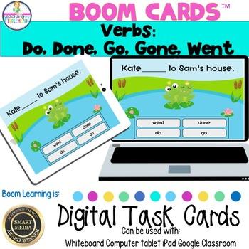 Verbs: Go, Gone, Do, Done, Went Digital Boom Task Cards