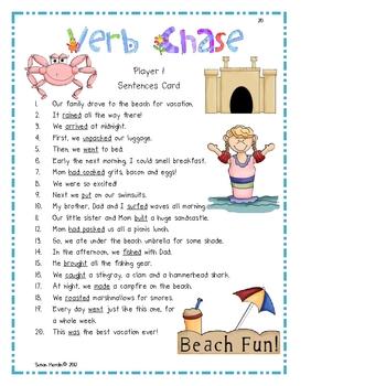 Verbs: Grammar Games