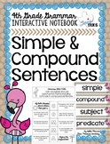 Simple and Compound Sentences Grammar Interactive Notebook