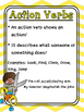 Verbs Grammar Mini Lessons Task Card Interactive Notebook Action Helping Linking