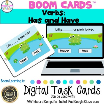 Verbs: Has and Have Digital Boom Task Cards
