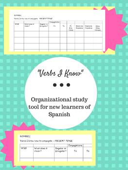 """Verbs I Know"" - Spanish Study Tool"
