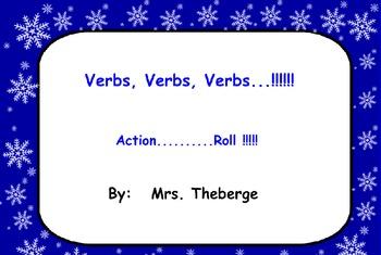 Verbs In The Winter SMART board lesson