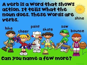 Verbs Intro, Singular and Plural