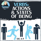 Action & State-of-Being Verbs - Introductory Handout & Practice Worksheet