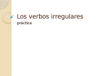 Verbs-Irregular Present Tense Conjugation Practice