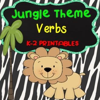 Verbs Activities Jungle Theme