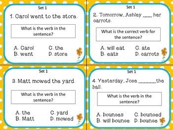 Verbs {L.3.1.a, d, e} Task Cards Bundle