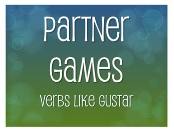 Spanish Verbs Like Gustar Partner Games