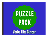 Spanish Verbs Like Gustar Puzzle Pack