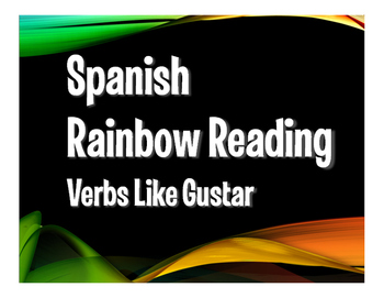 Spanish Verbs Like Gustar Rainbow Reading