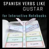 Verbs Like Gustar Spanish Interactive Notebook Insert