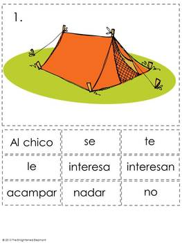 Verbs Like Gustar Spanish Sentence Writing Station Activities