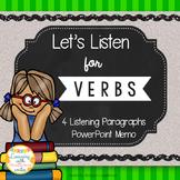 Verbs Listening Activity