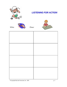 Verbs:  Listening for Action