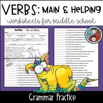 Verbs: Main and Helping - Grammar Worksheets