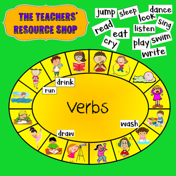 Verbs Matching Activity Game English