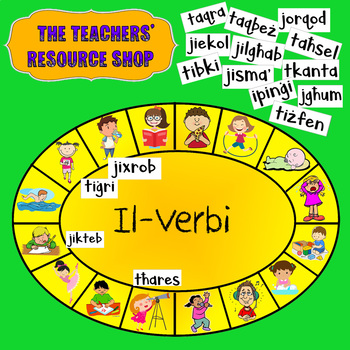 Verbs Matching Activity Game in Maltese