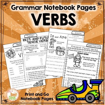Verbs Notebook Pages: Tabbed for Easy Access!