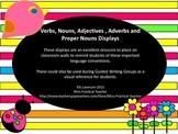 Verbs, Nouns, Adjectives, Adverbs and Proper Nouns Displays