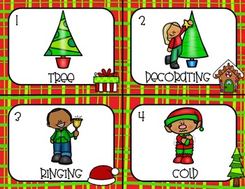 Verbs, Nouns, Adjectives  Christmas Scoot/ Write The Room