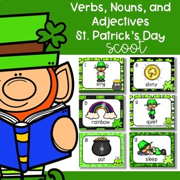 Verbs, Nouns, Adjectives Scoot/ Write The Room