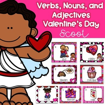 Verbs, Nouns, and Adjectives Valentine's Day Scoot