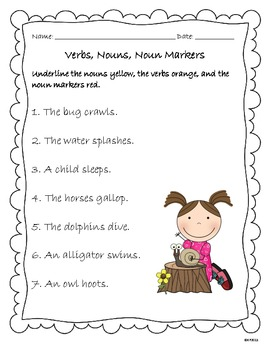 Verbs, Nouns, and Noun Markers (Articles)