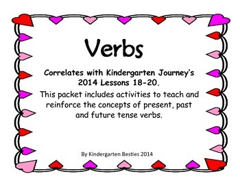 Verbs Packet- Correlates with Kindergarten Journeys 2014