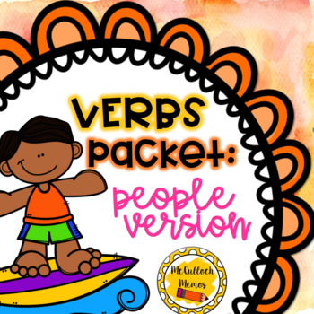 Verbs Packet with People Clip Art