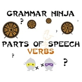 Verbs Parts of Speech Review Game PowerPoint - Grammar Ninja