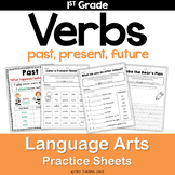 Verbs (Past, Present, Future) Common Core Practice Sheets L.1.1.E