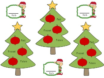 Verbs Past Present Future Tense Christmas Reading Street