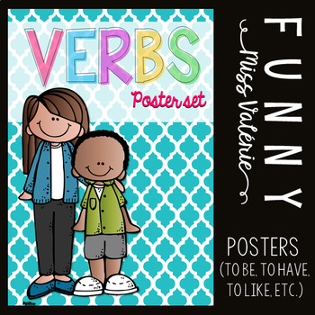 Verbs - Poster Set (to be, to have, to like, to do, etc...)
