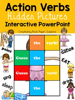 Action Verbs   PowerPoint Game Hide And Reveal  Action Verbs