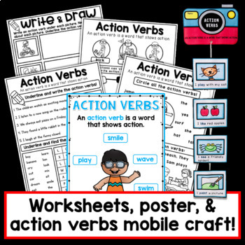 Verbs PowerPoint and Printables