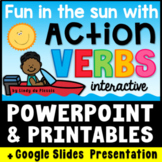 Action Verbs PowerPoint / Google Slides, Worksheets, Poste