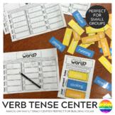 Verbs - Present + Past Tense Word Work Task