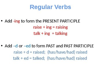 Verbs: Principal Parts & Tenses