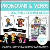 Pronouns Speech Therapy Worksheets | Verbs + Sentence Formulation