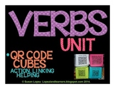 Verbs QR Code Writing Activity Cubes