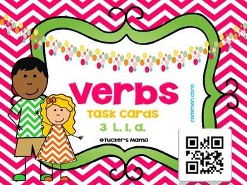 Verbs QR Task Cards