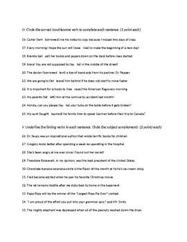 Verbs Quiz