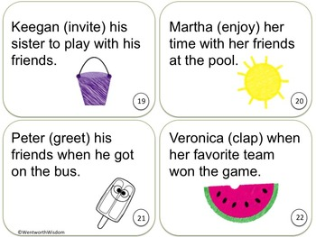 Past tense verbs literacy center task cards ela review or test prep esl m4hsunfo